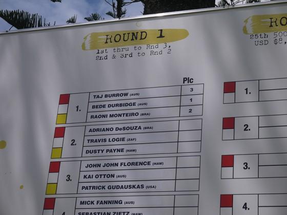 QS pro 2013 Round1 Heat1 ビード・ダービッジ