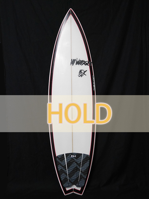 #bul029 中古 Mt Woodgee Surfboards 6′ BULLET