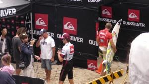 Quiksilver pro Round2 Heat1