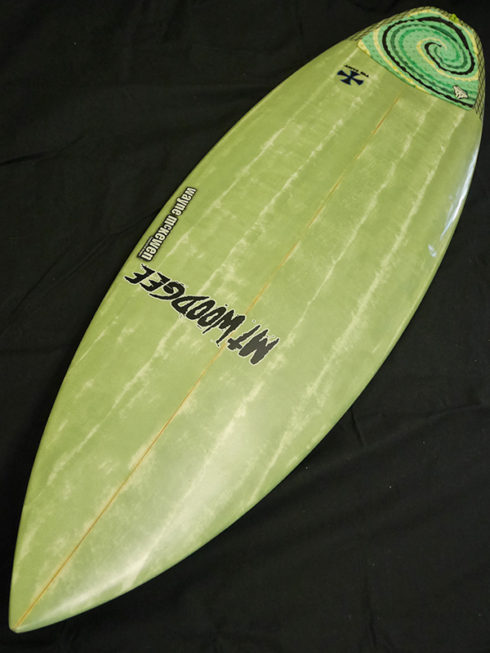 #snt054 中古 Mt Woodgee Surfboards 5'9 SAINT